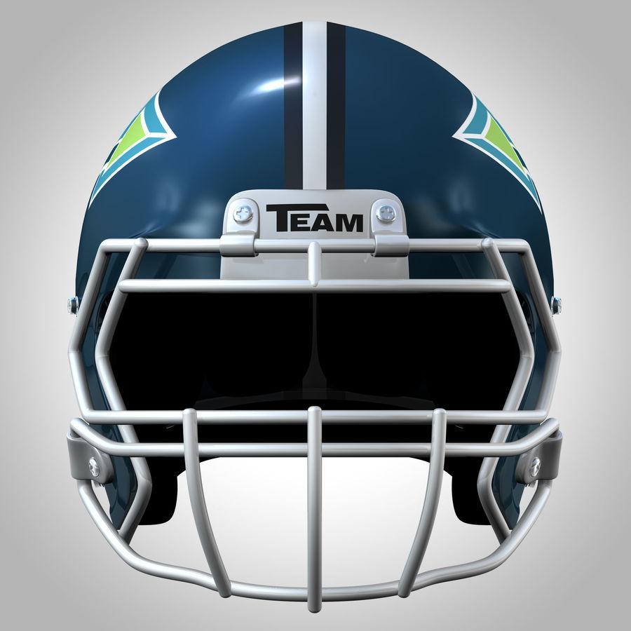 Casco da football royalty-free 3d model - Preview no. 7