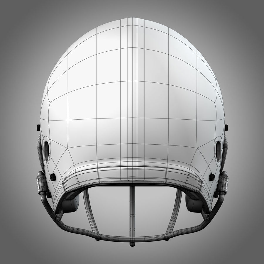 Casco da football royalty-free 3d model - Preview no. 6