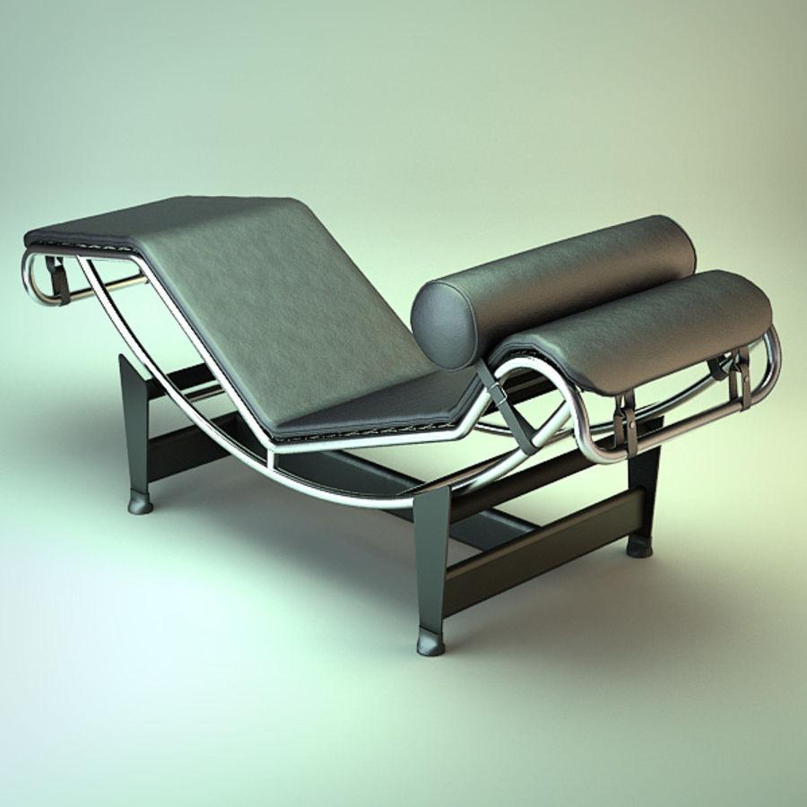 Le Corbusier LC4 Chaiselongue Royalty Free 3d Model