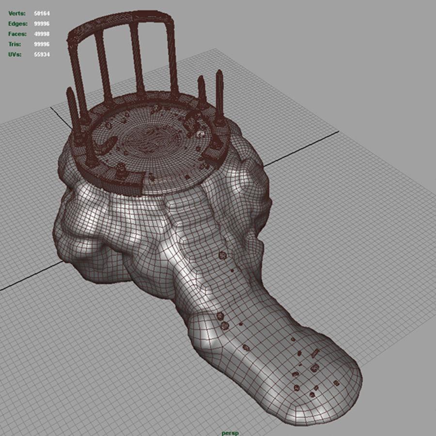 Planalto antigo royalty-free 3d model - Preview no. 10