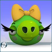 Angry Pig (Girl) 3d model