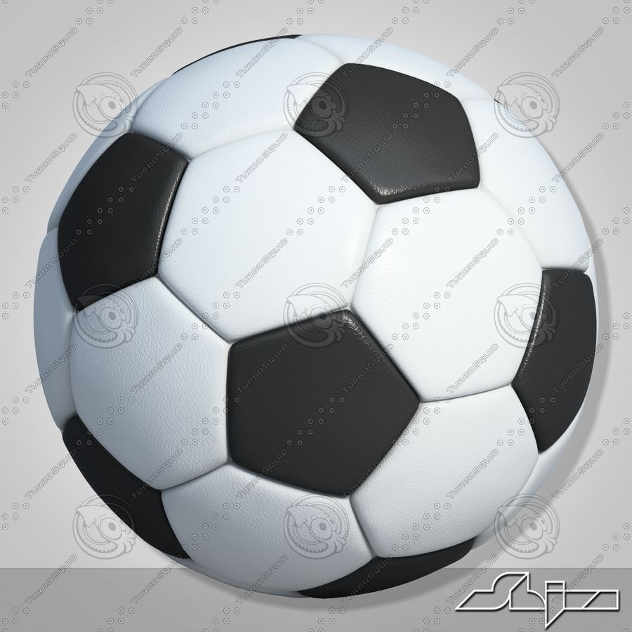 Football 2 Ball For Soccer royalty-free 3d model - Preview no. 5