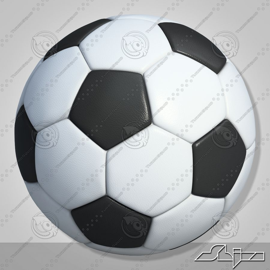 Football 2 Ball For Soccer royalty-free 3d model - Preview no. 6