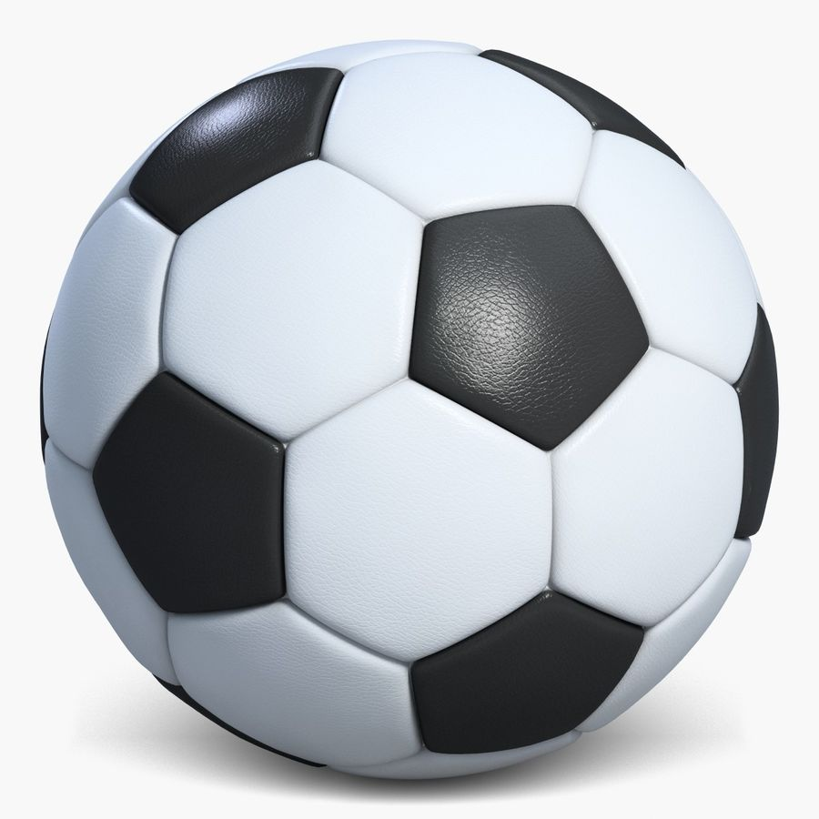 Football 2 Ball For Soccer royalty-free 3d model - Preview no. 3