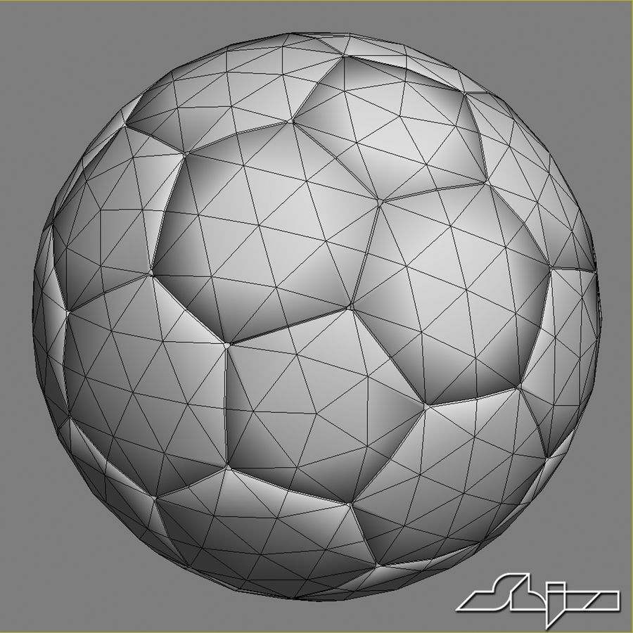 Football 2 Ball For Soccer royalty-free 3d model - Preview no. 7