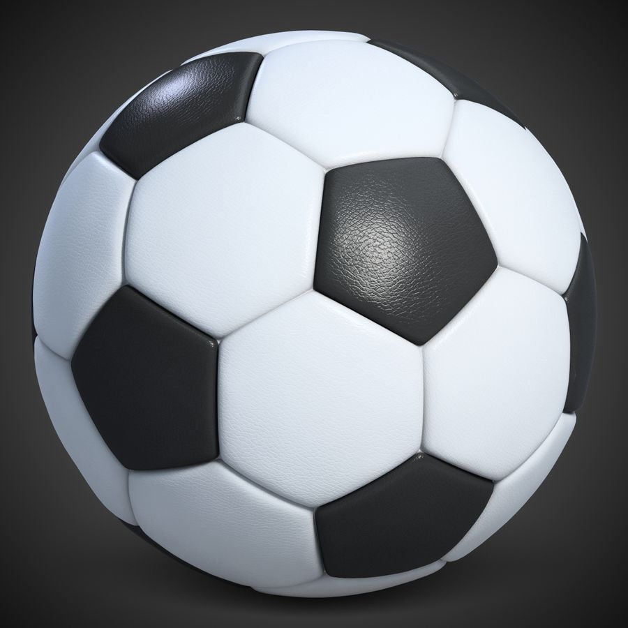 Football 2 Ball For Soccer royalty-free 3d model - Preview no. 2