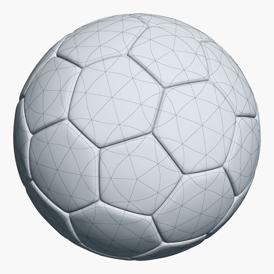 Football 2 Ball For Soccer royalty-free 3d model - Preview no. 4