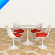 Knoll Saarinen 튤립 식탁 및 회의 의자 3d model