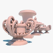 Decorative Urns 3d model