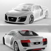 R8 52 FSI Quattro 3D模型 3d model