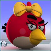 Angry Birds (Red Girl) 3d model