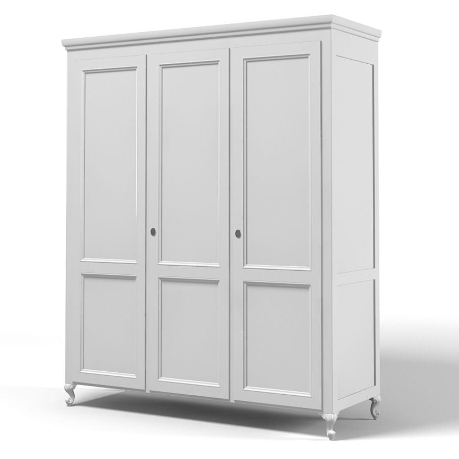 Halley 751Gs Wardrobe Armoire bedroom furniture classic traditional royalty-free 3d model - Preview no. 1