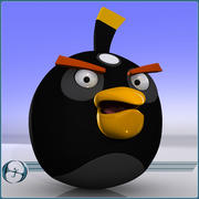 Angry Birds (Black) 3d model