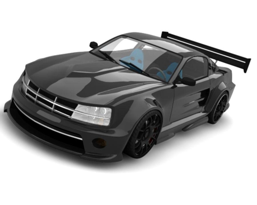 generic car 10 royalty-free 3d model - Preview no. 2