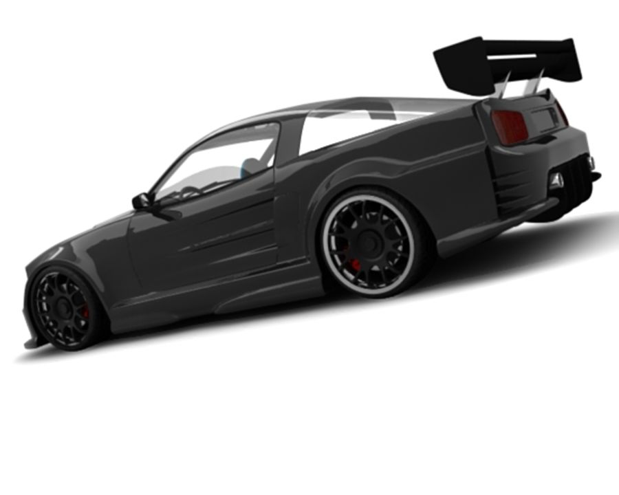 generic car 10 royalty-free 3d model - Preview no. 6