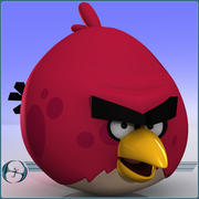 Angry Birds (Elder Red Bird) 3d model