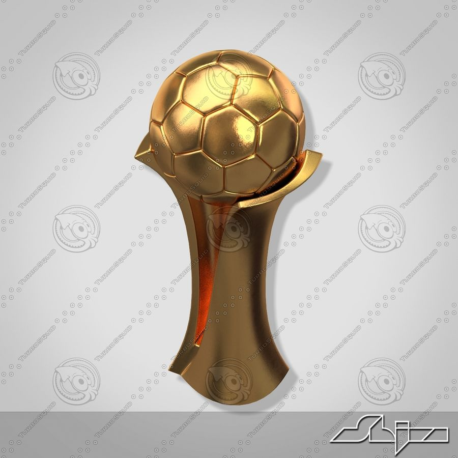 Football Award Cup royalty-free 3d model - Preview no. 6