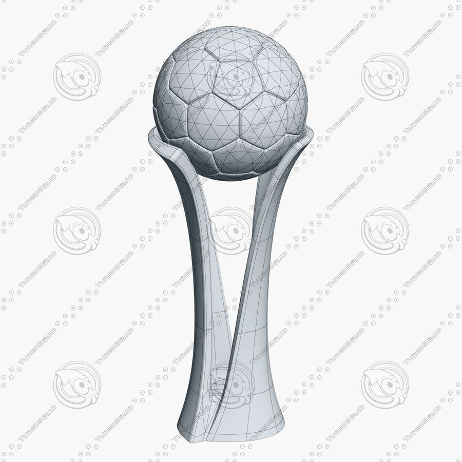 Football Award Cup royalty-free 3d model - Preview no. 8
