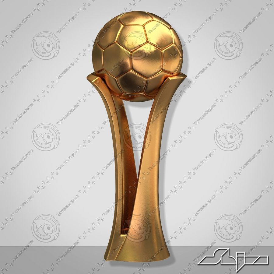 Football Award Cup royalty-free 3d model - Preview no. 3