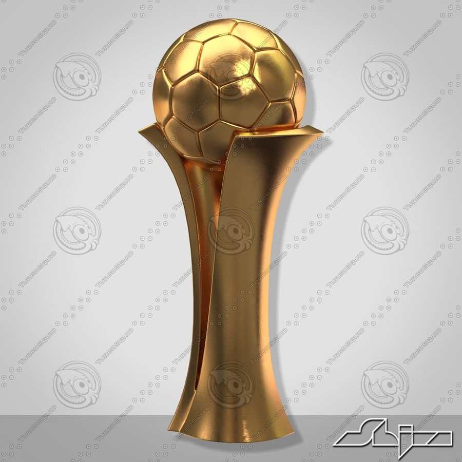 Football Award Cup royalty-free 3d model - Preview no. 5