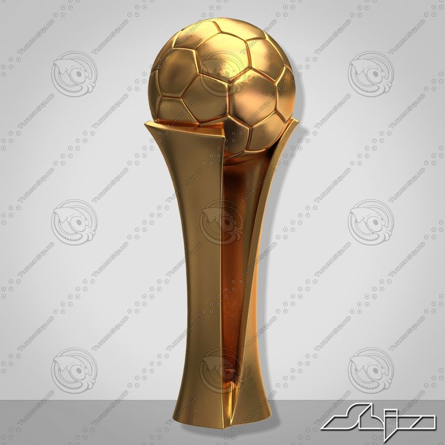 Football Award Cup royalty-free 3d model - Preview no. 4