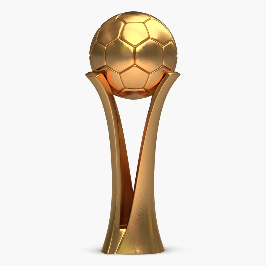 Football Award Cup royalty-free 3d model - Preview no. 1