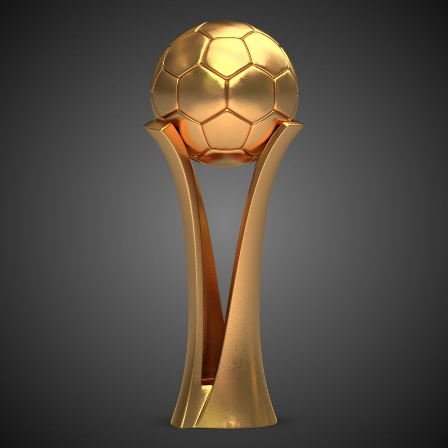 Football Award Cup royalty-free 3d model - Preview no. 2