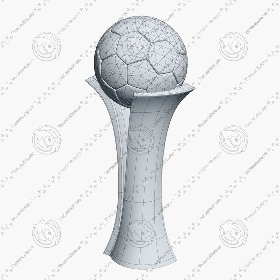 Football Award Cup royalty-free 3d model - Preview no. 7