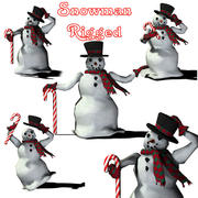 DC Snowman Holiday 3d model