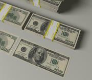 100美元的钞票 3d model