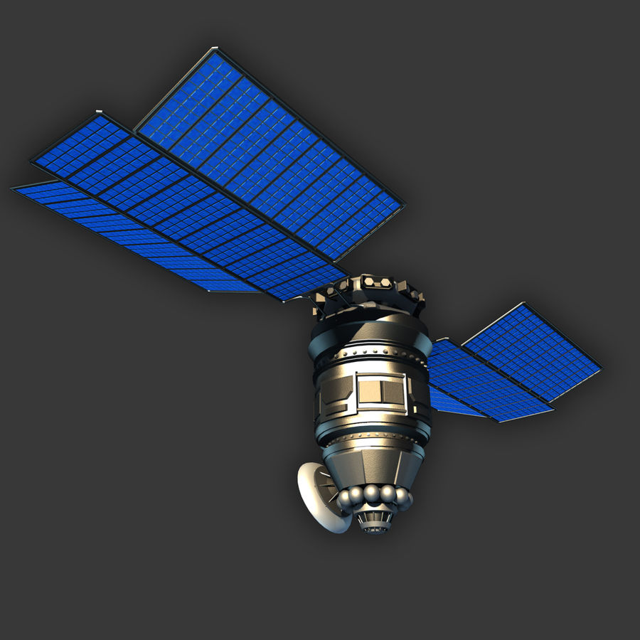 Satélite royalty-free modelo 3d - Preview no. 3