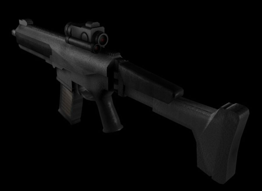 Modern Assault Rifle royalty-free 3d model - Preview no. 2