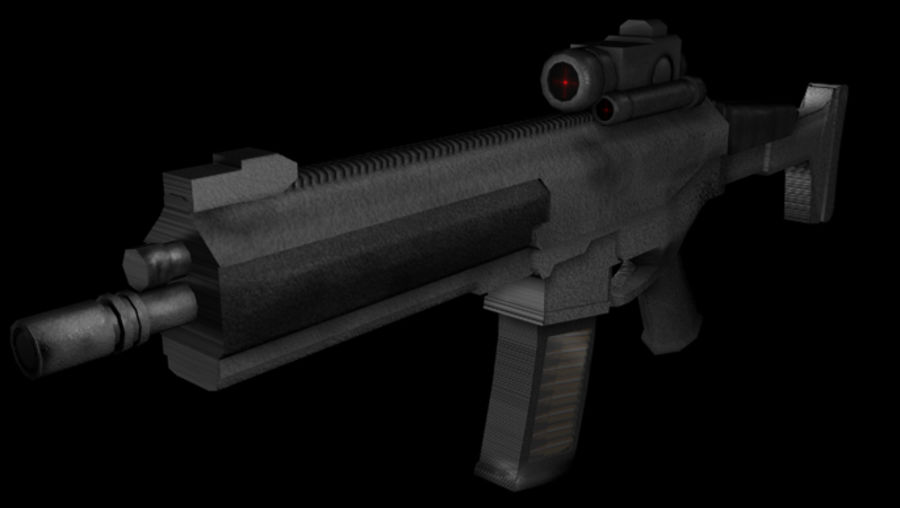 Modern Assault Rifle royalty-free 3d model - Preview no. 1