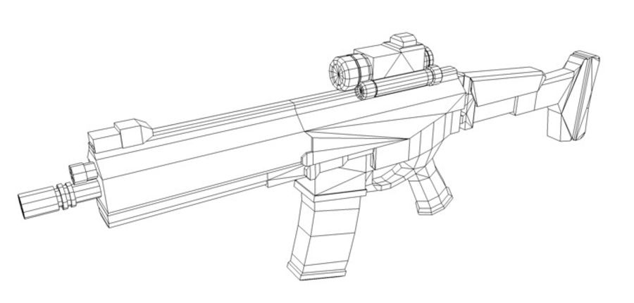 Modern Assault Rifle royalty-free 3d model - Preview no. 6