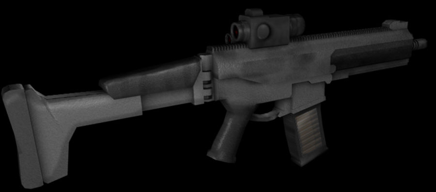 Modern Assault Rifle royalty-free 3d model - Preview no. 3