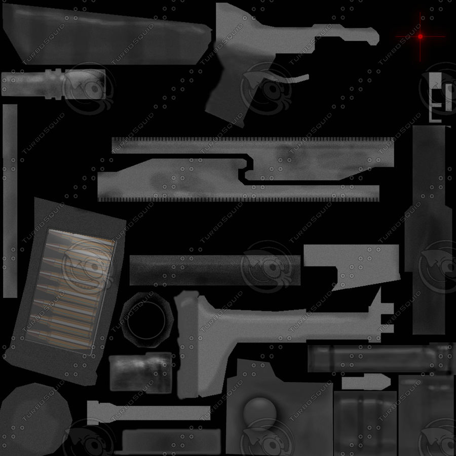 Modern Assault Rifle royalty-free 3d model - Preview no. 7