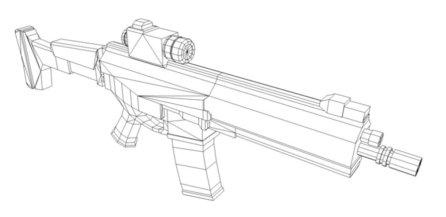 Modern Assault Rifle royalty-free 3d model - Preview no. 5
