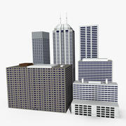 Low Poly Buildings 3d model