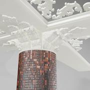 Pillar Ornate Mould 3d model