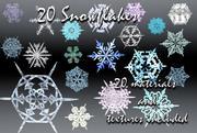 DC 20 Snowflakes 3d model