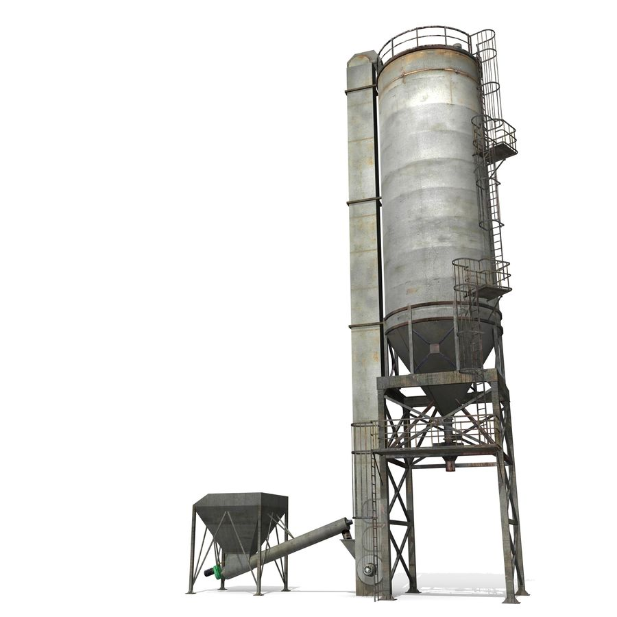 Silo A royalty-free 3d model - Preview no. 3