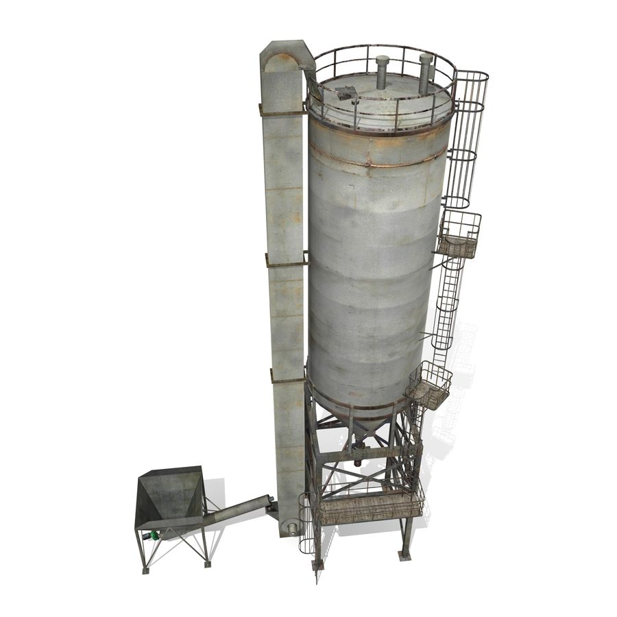 Silo A royalty-free 3d model - Preview no. 4