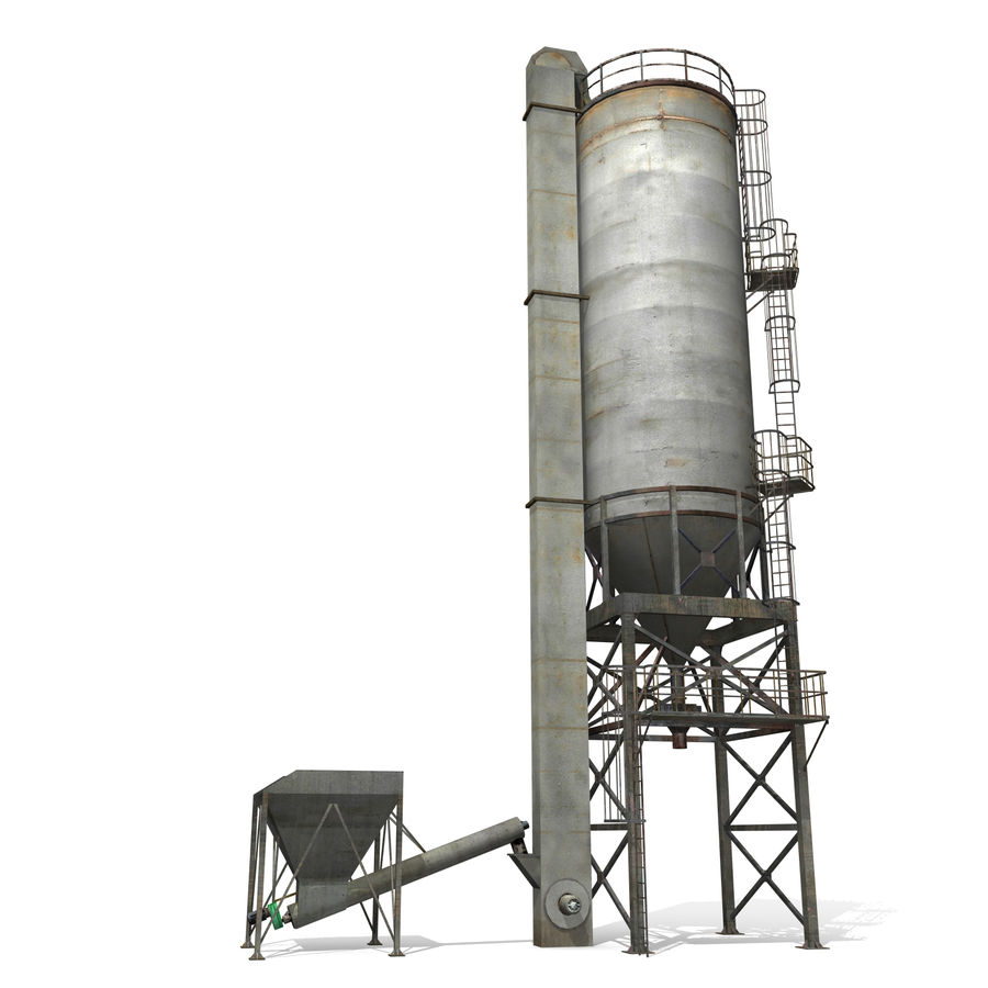 Silo A royalty-free 3d model - Preview no. 2