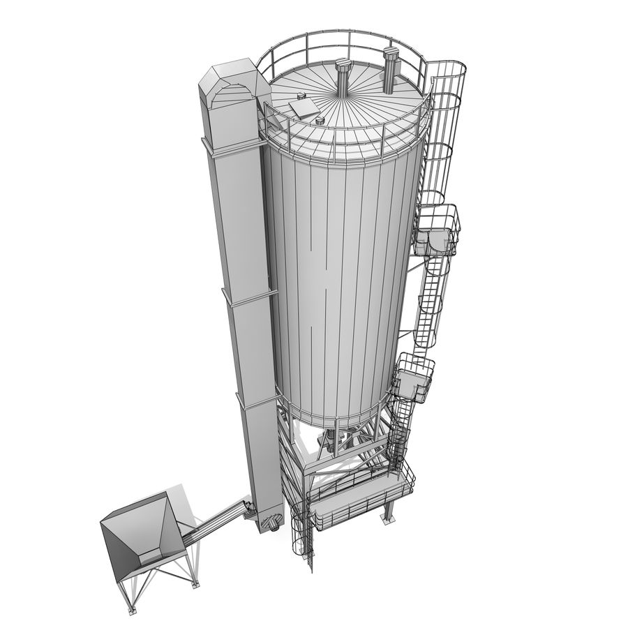 Silo A royalty-free 3d model - Preview no. 7