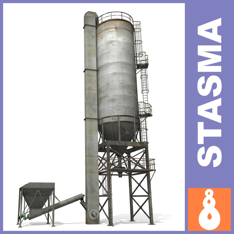 Silo A royalty-free 3d model - Preview no. 1