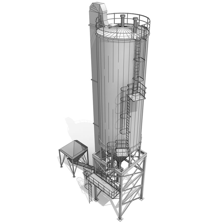 Silo A royalty-free 3d model - Preview no. 8