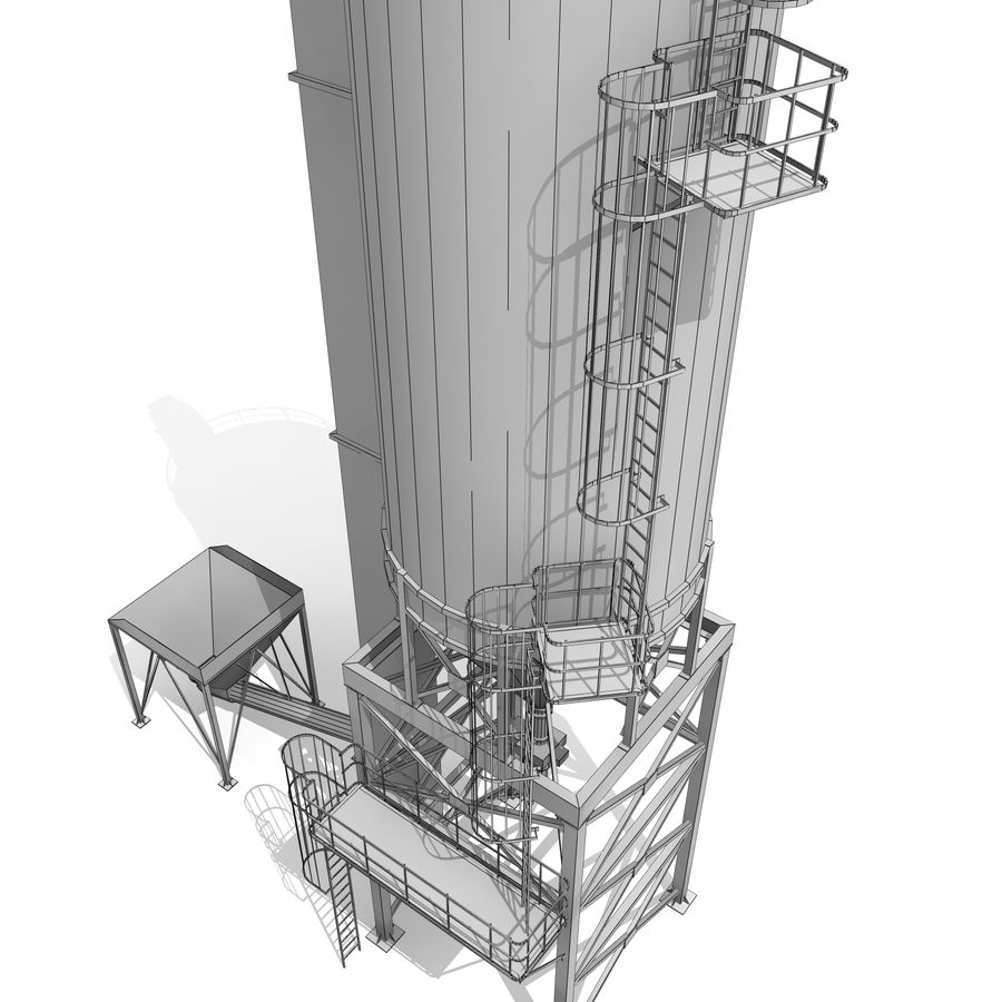 Silo A royalty-free 3d model - Preview no. 9