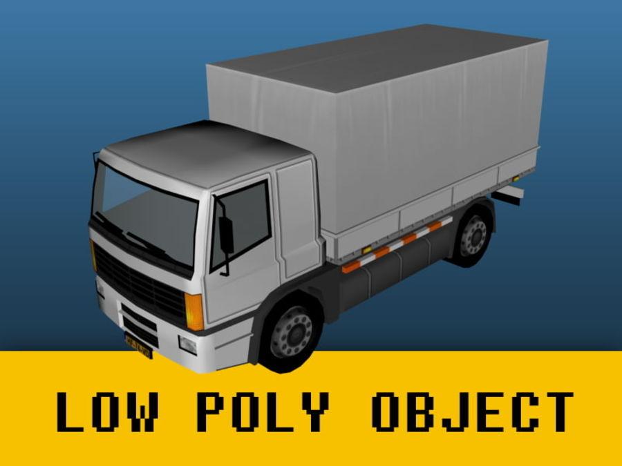 Lastbil (låg poly) royalty-free 3d model - Preview no. 1