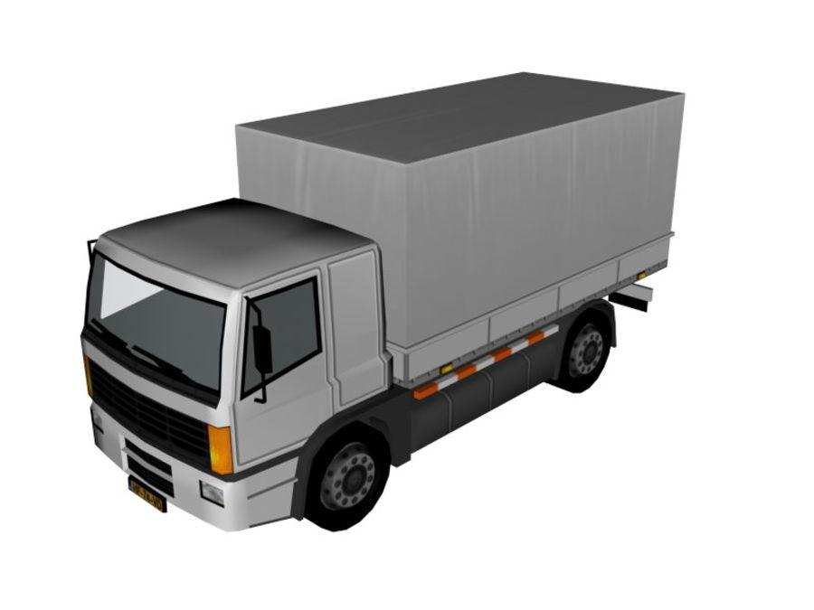 Lastbil (låg poly) royalty-free 3d model - Preview no. 4
