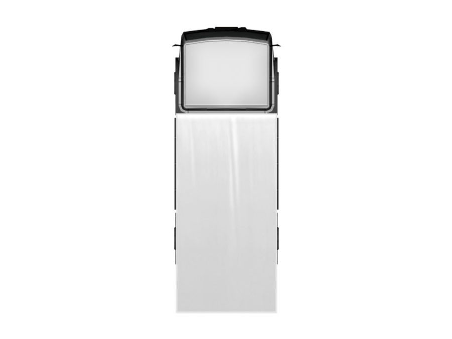 Lastbil (låg poly) royalty-free 3d model - Preview no. 3